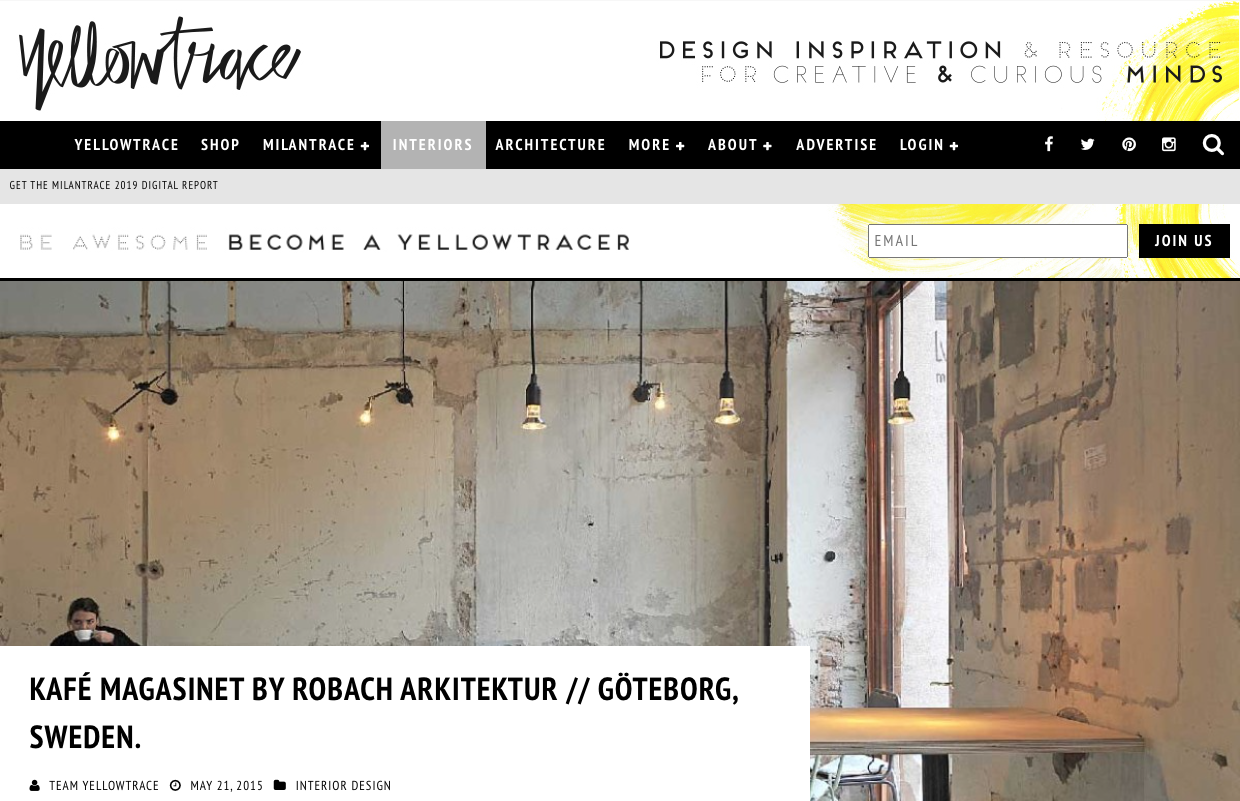 yellowtrace article kafe magasinet