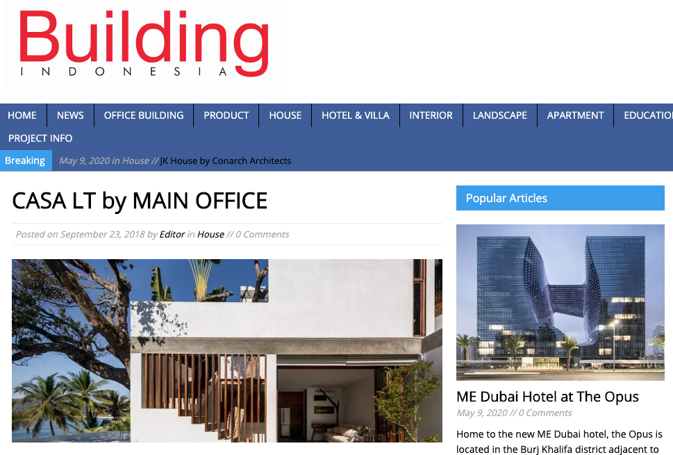 building indonesia article about casa lt