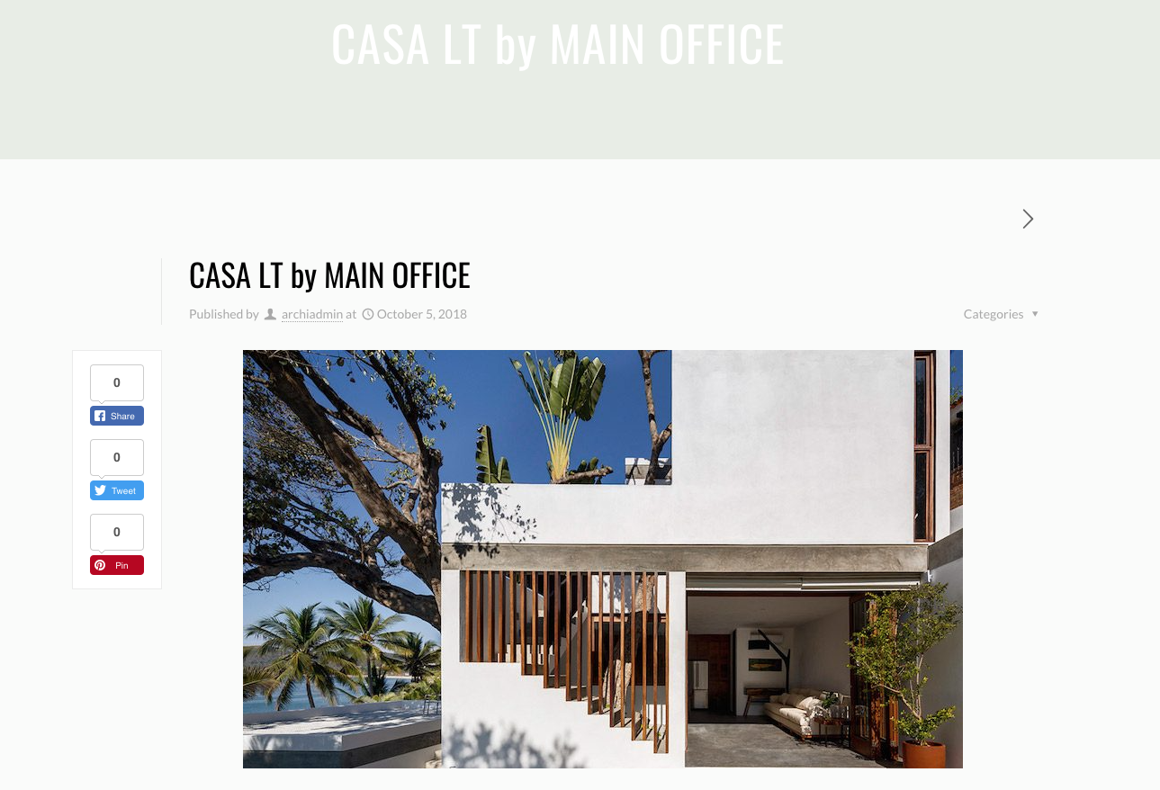 Archi-europe article about Casa Linda Theresia