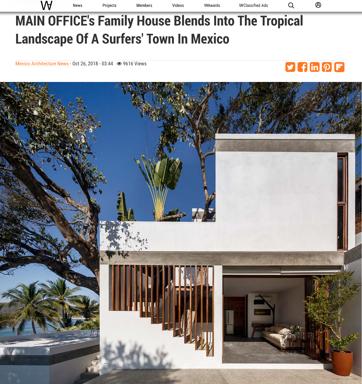 World Architecture article about Main Office design Casa Linda Theresia